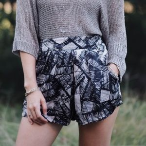 GLAM Brand Silky Printed Shorts - Small
